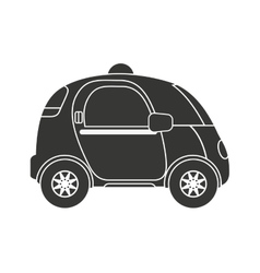 Self driving car future icon vector