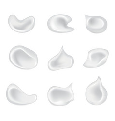 Set of isolated skin cosmetic cream vector