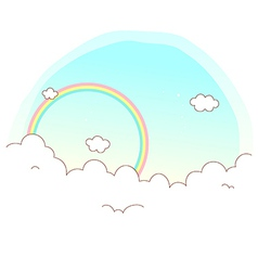 Sky Cloud Background vector image