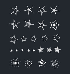 stars collection vector image