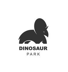triceratops dinosaur logo design element jurassic vector image