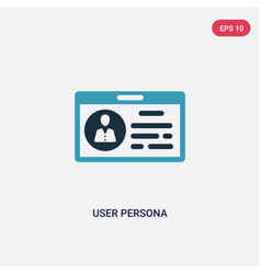 Two color user persona icon from technology vector
