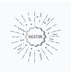 Vocation inspirational summer vector