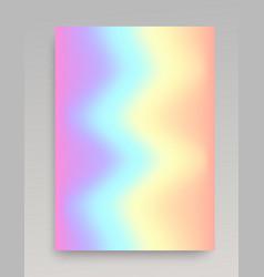 Wavy iridescent gradient backdrop vector