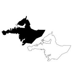 Western region iceland island regions iceland vector