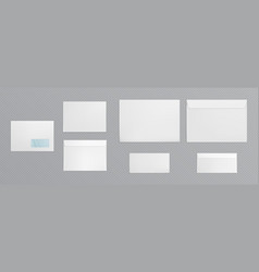 white envelope with transparent window vector image