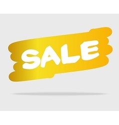 White sale on yellow brush style stain vector image