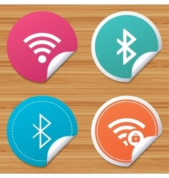 Wifi and Bluetooth icon Wireless mobile network vector image