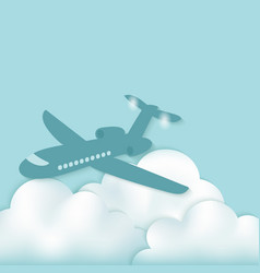 airplane above clouds vector image