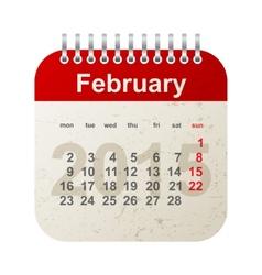 calendar 2015 - february vector image vector image