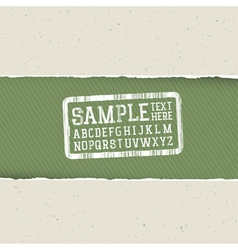 ecology template torn paper vector image vector image