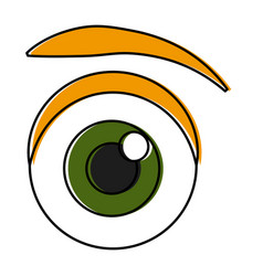 eye cartoon isolated vector image vector image