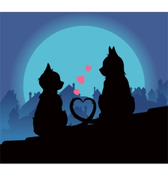lovers cats vector image vector image