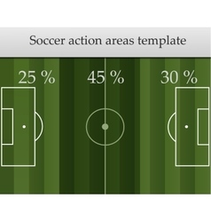 Soccer action areas template vector image