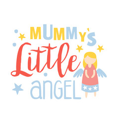 little mummys angel colorful hand drawn vector image vector image