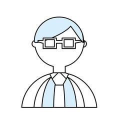man geek cartoon vector image