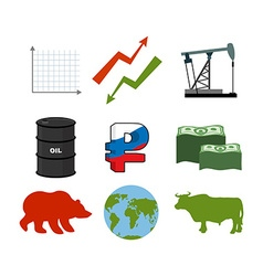 Set for business graphics Set to infographics Icon vector image vector image