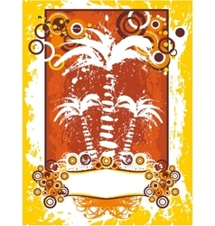 Summer with palms background vector image