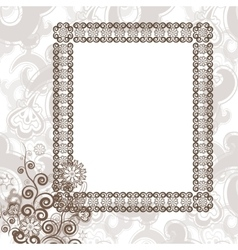 Frame in vintage style vector image