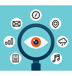 Analysis and scrutiny of the different information vector image vector image