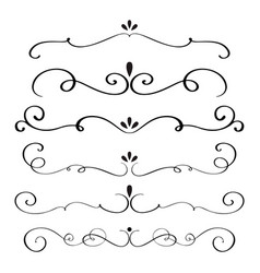 art calligraphy flourish of vintage decorative vector image