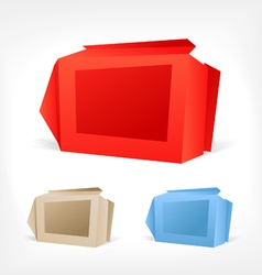 Background of polygonal origami boxes vector image vector image