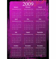 floral pink grungy calendar vector image vector image