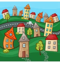 Suburbs and houses vector image vector image