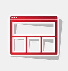 web window sign new year reddish icon vector image