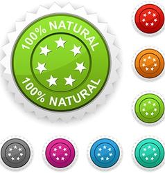 100 Natural award vector