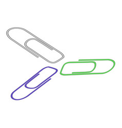 a paper clip on white vector image