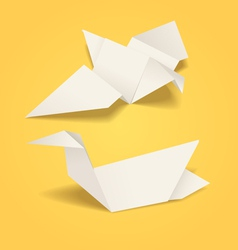 Abstract origami birds vector image