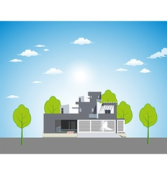 Apartment landscape background vector