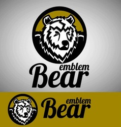 bear emblem vector image