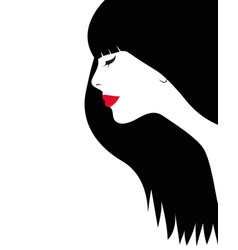 beautiful woman face logo vector image