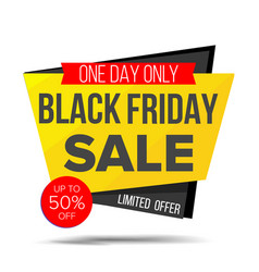 black friday sale banner shopping vector image
