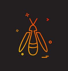 bug fly icon design vector image