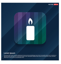 Candle icon vector