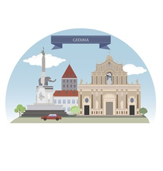 Catania vector image