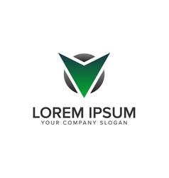 cative modern letter v logo design concept vector image