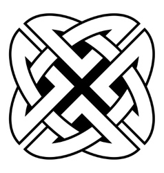 Celtic Quaternary knot vector image