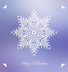 Christmas background with abstract snowflake vector