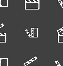 Cinema clapper sign icon video camera symbol vector