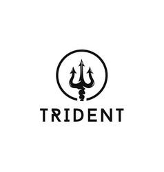 circular trident logo design1 vector image