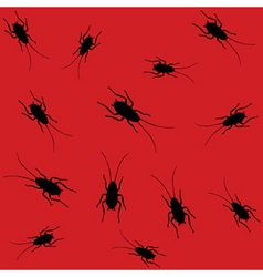 cockroaches pattern vector image