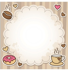coffee frame vector image