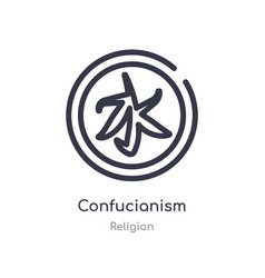 Confucianism outline icon isolated line from vector