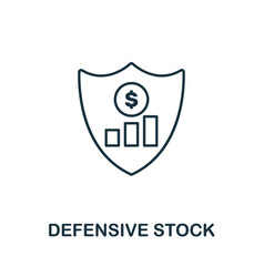 Defensive stock icon outline style thin line vector
