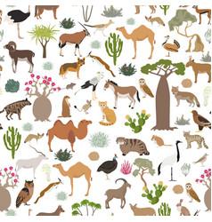 Desert biome xeric shrubland biome natural region vector