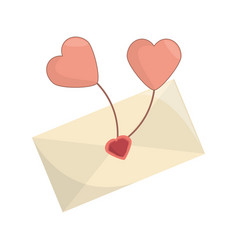 envelope message balloon heart romance vector image